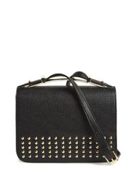 Big Buddha | Black Studded Crossbody Bag | Lyst