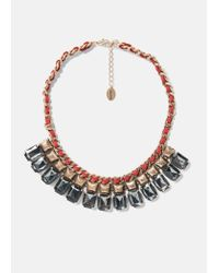 Violeta by Mango | Red Metal Bead Necklace | Lyst