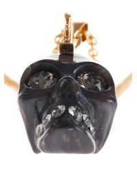 Alexander McQueen | Metallic Punk Skull Necklace | Lyst