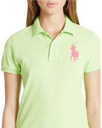 Polo Ralph Lauren | Green Skinny-fit Big Pony Polo Shirt | Lyst