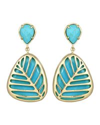 Kendra Scott | Blue Stella Doubledrop Leaf Earrings Turquoise | Lyst