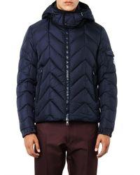 Moncler - Blue Berriat Chevron Down-Filled Jacket for Men - Lyst