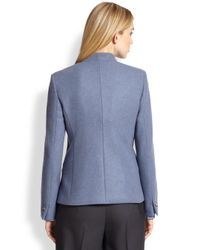 Max Mara Blue Bridge Bibfront Cashmere Jacket