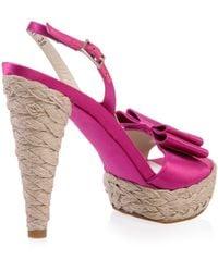 Stuart Weitzman | Pink Satin Bow Shoes | Lyst