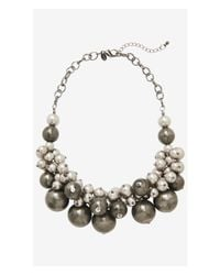 Express | Metallic Short Metal Bauble Necklace | Lyst
