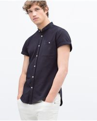 Zara | Blue Piqué Shirt for Men | Lyst