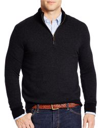 Polo Ralph Lauren | Black Herringbone Merino Half-zip Sweater for Men | Lyst