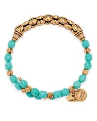 ALEX AND ANI - Blue Vintage 66 Calypso Wrap Bracelet - Lyst