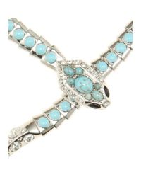 Roberto Cavalli - Blue Embellished Snake Necklace - Lyst