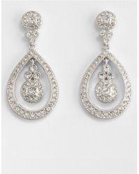 Nadri   Metallic Open Round Drop Earrings   Lyst