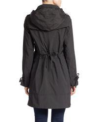 Cole Haan - Black Solid Zip Front Anorak Jacket - Lyst