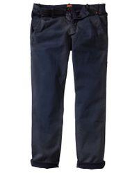 BOSS Orange - Blue Regular-Fit Trousers 'Sandrew-D' for Men - Lyst