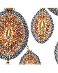 Miguel Ases - Orange Topaz Quartz Chandelier Earrings - Lyst