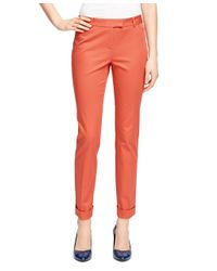 Brooks Brothers | Orange Natalie Fit Cotton Pants | Lyst