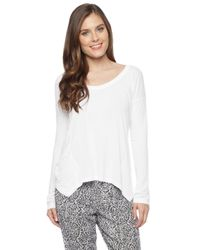 Splendid - White Light Jersey Long Sleeve Top - Lyst