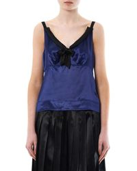Marc Jacobs - Blue Satin Camisole - Lyst