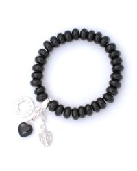 Charmology | Black Safe Travel Bead Bracelet with 3 Charms | Lyst