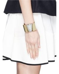 Isabel Marant - Metallic Cracked Resin Plate Brass Cuff - Lyst