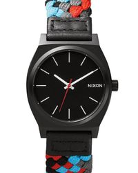 Nixon | Woven Black And Red Time Teller Watch for Men | Lyst