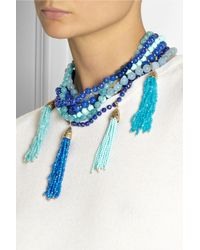 Rosantica | Blue Himalaya Golddipped Agate Necklace | Lyst