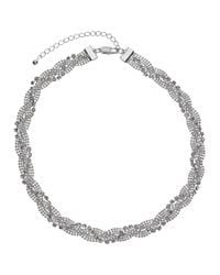 John Lewis - Metallic Entwine Pave Chain Necklace - Lyst