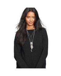 Denim & Supply Ralph Lauren - Black Rib-knit Crewneck Tunic - Lyst