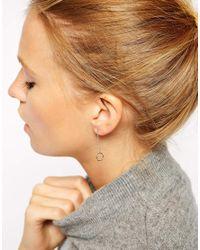 ASOS - Metallic Open Chain Circle Earrings - Lyst