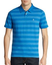 Original Penguin | Blue Striped Polo Shirt for Men | Lyst