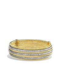 David Yurman - Metallic Lantana Bracelet With Diamonds In Gold - Lyst