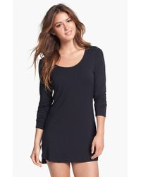 Splendid | Black Long Sleeve Sleep Shirt | Lyst
