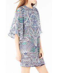 BCBGMAXAZRIA - Multicolor Tati Burnout Mesh Dress - Lyst