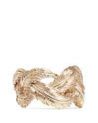 Valentino - Metallic Feather Cuff - Lyst