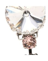 Miu Miu | Metallic Crystal-embellished Clip-on Earrings | Lyst