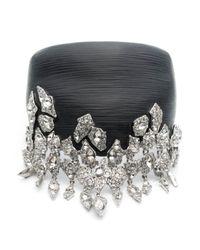 Alexis Bittar | Black Glacial Crystal Cascading Brake Hinge Bracelet | Lyst