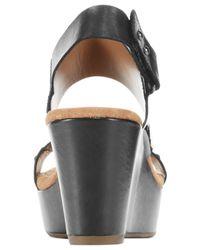 Clarks | Black Artisan Women's Caslynn Dez Platform Wedge Sandals | Lyst
