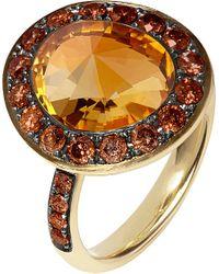 Annoushka - Metallic Dusty Diamonds 18ct Yellow-gold, Diamond And Citrine Ring - Lyst