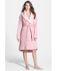 UGG | Pink Double Knit Robe | Lyst