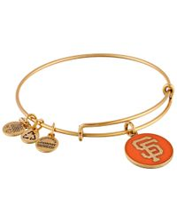 ALEX AND ANI | Metallic Mlb® San Francisco Giants™ Charm Bangle | Lyst