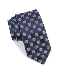 John W. Nordstrom | Blue 'perez' Floral Medallion Silk Tie for Men | Lyst