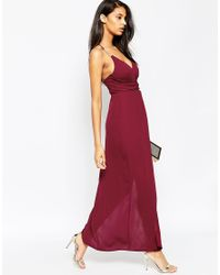 ASOS | Purple Triangle Bar Spaghetti Strap Maxi Dress | Lyst