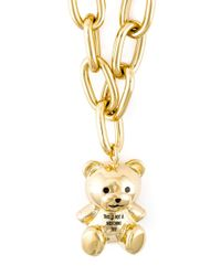 Moschino | Metallic Teddy Bear Pendant Necklace | Lyst