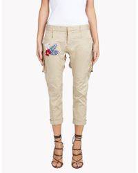 DSquared² | Natural Halia Icon Pants | Lyst