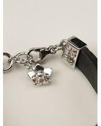 Fendi - Black Floral Bracelet - Lyst