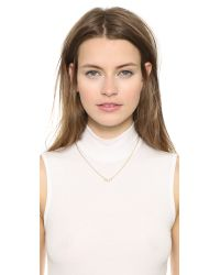 Elizabeth and James - Metallic Monroe Necklace - Gold/Clear - Lyst