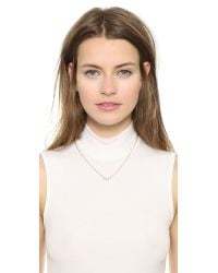 Elizabeth and James | Metallic Monroe Necklace - Gold/Clear | Lyst