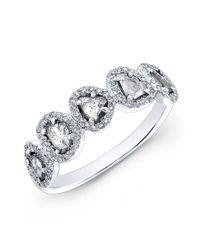 Anne Sisteron - 14kt White Gold Diamond Slice Princess Ring - Lyst