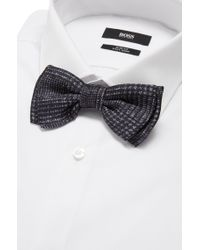 BOSS - Gray 'bow Tie Fashion' | Silk Patterned Bow Tie for Men - Lyst