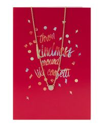 Lydell NYC - Metallic Confetti Disc Pendant Necklace W/ Statement Card - Lyst