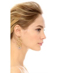Noir Jewelry - Metallic Gabriella Statement Earrings - Gold/clear - Lyst