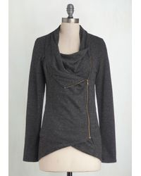 Sweet Rain | Gray Airport Greeting Cardigan In Charcoal | Lyst